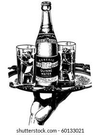 Quinine Water - Retro Clip Art