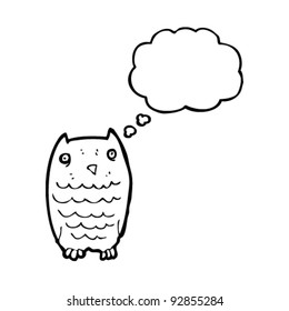 quirky cartoon owl