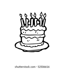 Superb Sketch Birthday Cake Images Stock Photos Vectors Shutterstock Funny Birthday Cards Online Elaedamsfinfo