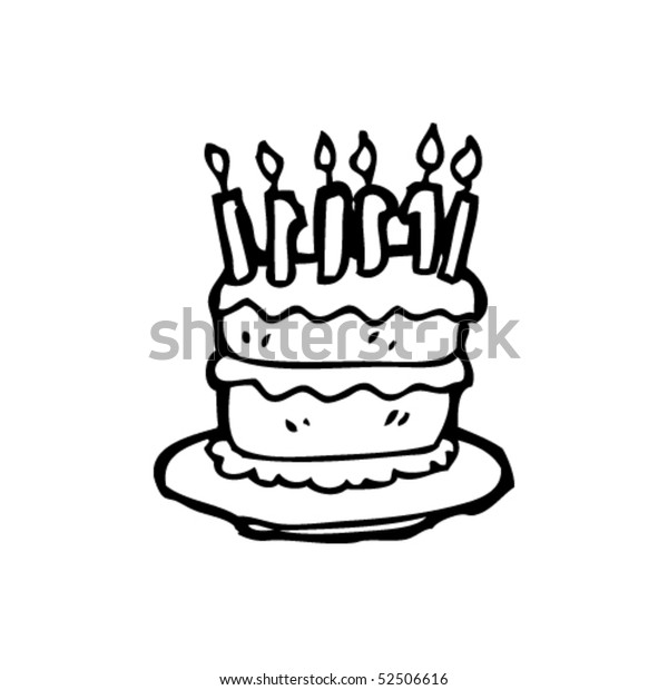 Prime Quirky Drawing Birthday Cake Stock Vector Royalty Free 52506616 Funny Birthday Cards Online Alyptdamsfinfo