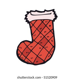 quirky drawing of a christmas stocking