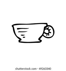 quirky drawing of a cup