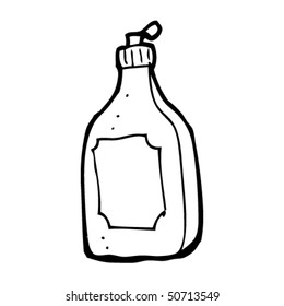 quirky drawing of a detergent bottle