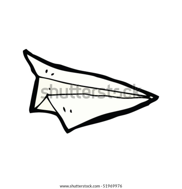 Quirky Drawing Paper Airplane Stock Vector Royalty Free 51969976