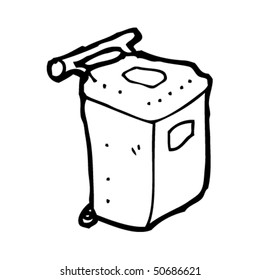 quirky drawing of a wheel bin