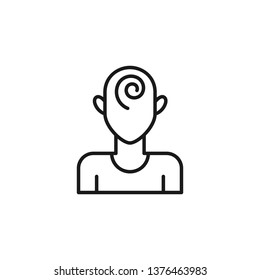 Quit smoking, hypnosis icon. Element of quit smoking icon. Thin line icon for website design and development, app development. Premium icon