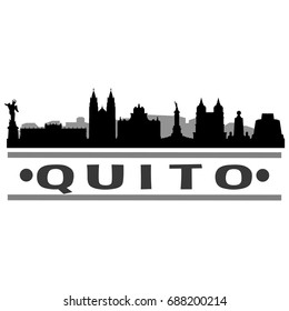 Quito Skyline Silhouette City Vector Design Art