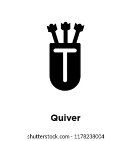 Quiver icon vector isolated on white background, logo concept of Quiver sign on transparent background, filled black symbol