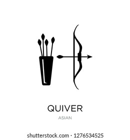 quiver icon vector on white background, quiver trendy filled icons from Asian collection, quiver vector illustration