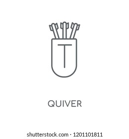 Quiver linear icon. Quiver concept stroke symbol design. Thin graphic elements vector illustration, outline pattern on a white background, eps 10.
