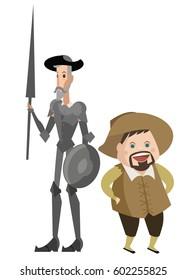 quixote and sidekick