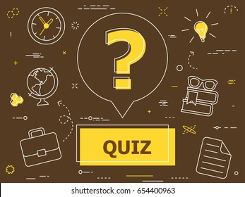 Quiz concept. Vector illustration
