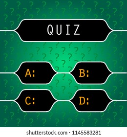 Quiz night announcement poster design web banner background vector illustration. Pub quiz held in a pub or bar, night club. Modern pub team game. Questions game