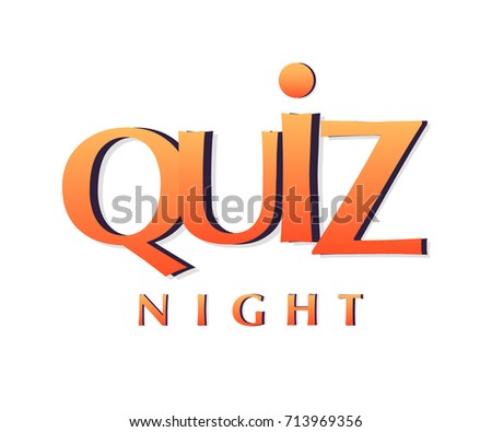 Quiz Night Banner Poster Template Stock Vector Royalty Free