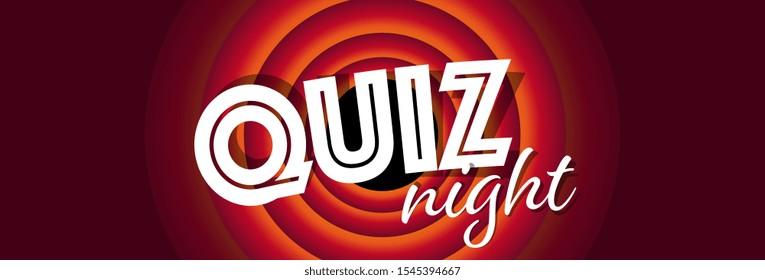 Quiz night on cartoon background