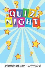 Quiz poster stock images royalty free images vectors shutterstock quiz night poster leaflet toneelgroepblik Image collections