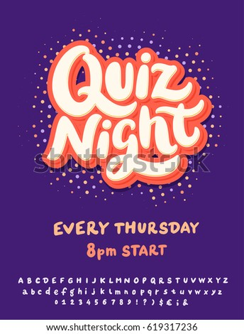 Quiz Night Poster Template Stock Vector Royalty Free 619317236