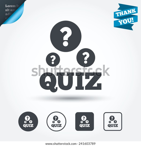 Quiz Question Marks Sign Icon Questions Stock Vector