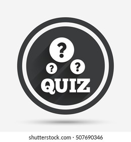 Quiz Sign Icon Questions Answers Game Stock Vector (Royalty