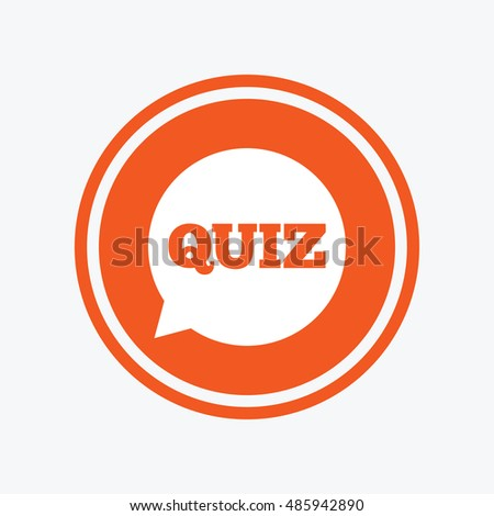 Quiz Speech Bubble Sign Icon Questions Stock Vector Royalty Free