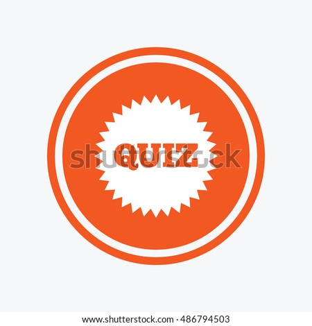 Quiz Star Sign Icon Questions Answers Stock Vector Royalty Free