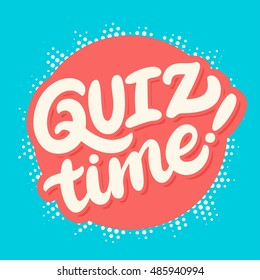 Quiz time banner.