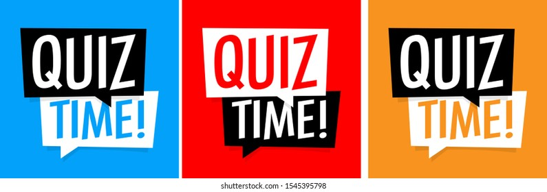 Quiz time on various background