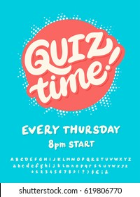 Quiz time! Poster template.