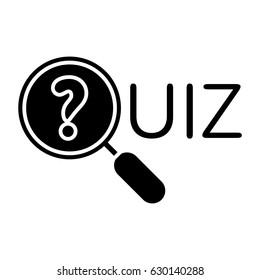 quizz magnifier icon