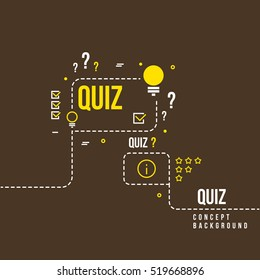 Quizzes, school exam quiz vector abstract background