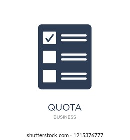 Quota icon. Trendy flat vector Quota icon on white background from business collection, vector illustration can be use for web and mobile, eps10