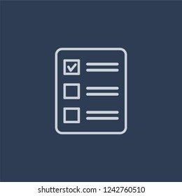 Quota icon. Trendy flat vector line Quota icon on dark blue background from business   collection.