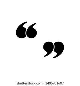Quotation icon design template. Vector EPS 10