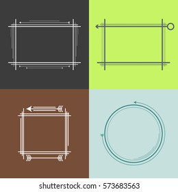 Quotation Mark Frame with Flat style and space for text. Retro template layout for phrases citation, famous quotations, ideas, advertising, printed material and so on.