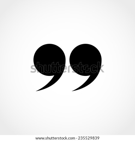 Quotation Mark Symbol Double Quotes End Stock Vector Royalty Free