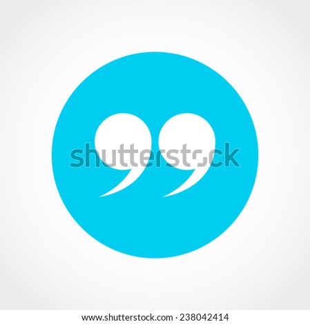 Quotation Mark Symbol Double Quotes End Stock Vector Royalty Free Enchanting Quote Symbol