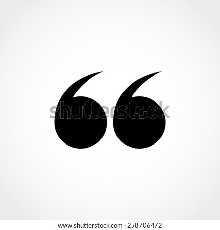 Quotation Mark Symbol Double Quotes End Stock Vector Royalty Free Gorgeous Quote Symbol