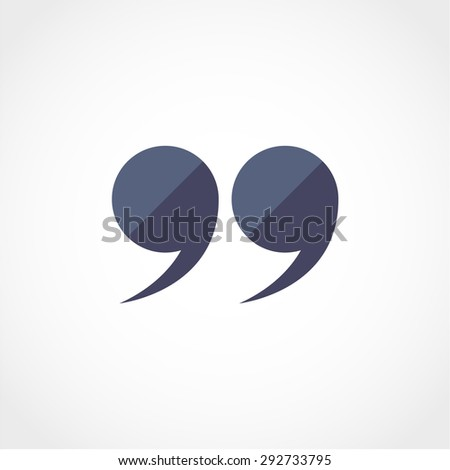 Quotation Mark Symbol Double Quotes End Stock Vector Royalty Free Awesome Quote Symbol