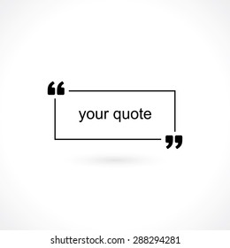 Quotation marks images stock photos vectors shutterstock quotation mark for text altavistaventures Image collections