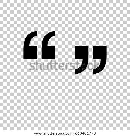 Quotation Marks Symbol Isolated On Transparent Stock Vector Royalty