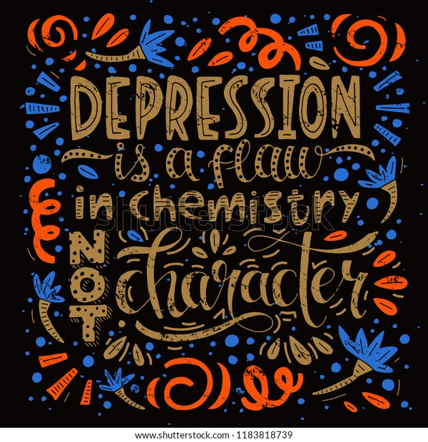 Quote About Depression Depression Flaw Chemistry Stock