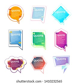 Quote banner template vector design