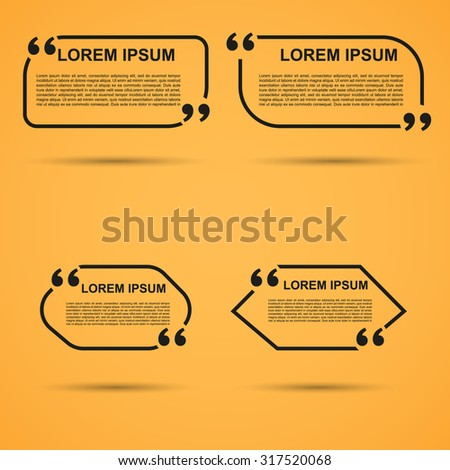 quote blank template quote bubble empty stock vector royalty free