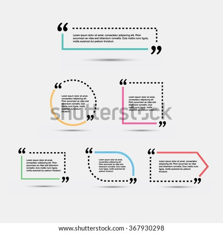 quote blank template vector eps 10 stock vector royalty free