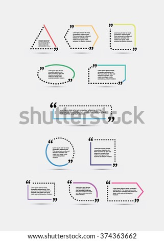 quote blank template template vector eps stock vector royalty free