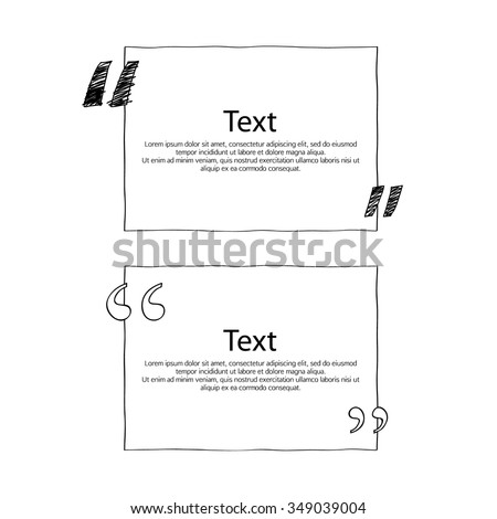 quote boxes marks set text formatting stock vector royalty free