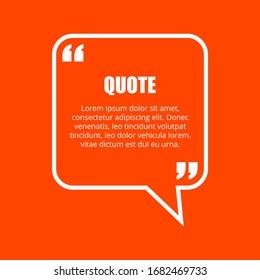 Quote bubble design on bright background