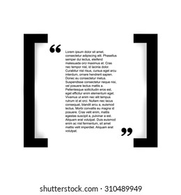 Quote bubble Typographical Poster Template. Black and white color version.