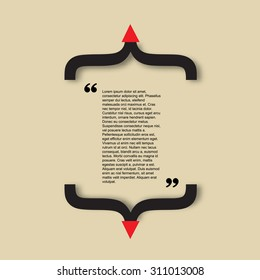 Quote citation Typographical Poster slide Template. Art creative style. For your commercial project or personal use.