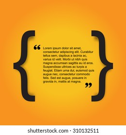 Quote citation Typographical Poster Template. Light yellow color version. For your commercial project or personal use.